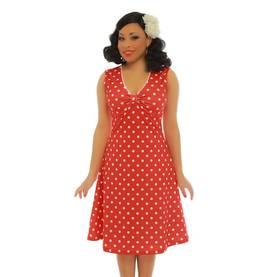 Lindy Bop Sabetha Red Polka Dot Mekko - Kellomekot - 1694 - 1 d40822c1f0